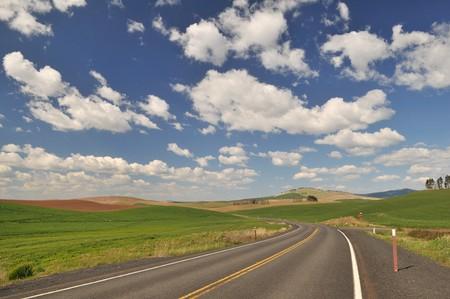 colfax: Countryside road near Colfax in Washington State Stock Photo