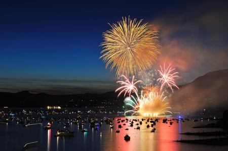 vancouver: Celebration of Lights, fireworks display at English Bay, Vancouver, BC