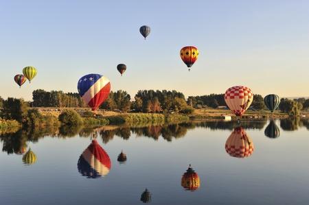 素晴らしいプロッサー バルーン ラリー 2011 年、ワシントン州 写真素材