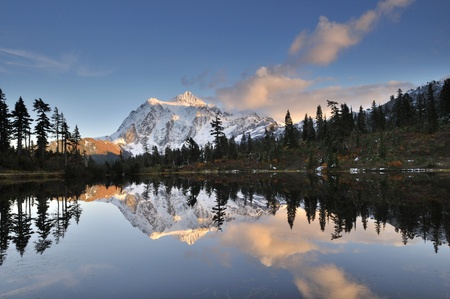 Mount Shuksan in Mt. Baker-Snoqualmie National Forest photo