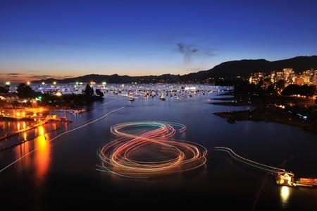 Celebration of Lights, fireworks display at English Bay, Vancouver, BC photo