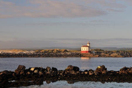 coquille: Coquille River Lighthouse a Bandon, Oregon Archivio Fotografico