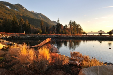 Furry Creek, located on Howe Sound in the Squamish-Lillooet Regional District