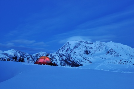 mount baker: Snow Camping at Huntoon Point, Mt  Baker-Snoqualmie National Forest