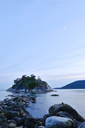 vancouver island: whytecliff park in west vancouver at sunset  Stock Photo
