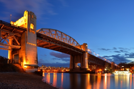 Burrard Bridge, Vancouver, BC Stock Photo