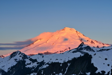 Mt. Baker Sunrise, Mt. Baker-Snoqualmie National Forest Stock Photo - 21072729