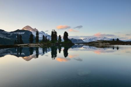 elfin: Sunset at Elfin Lake with Garibaldi Mountain in the background