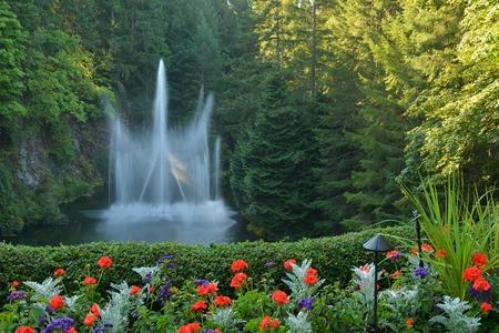 victoria bc: Ross Fountain in Sunken Garden, Butchart Gardens, Victoria, BC