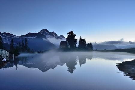 garibaldi: Elfin Lake early dawn,  with Garibaldi Mountain in the background