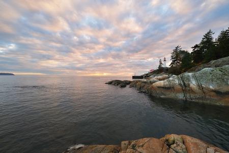 northshore: Point Atkinson Lighthouse sunset, West Vancouver, British Columbia