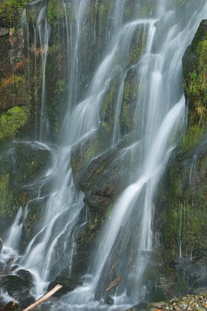 no name: A Roadside No Name Waterfalls alone the Squamish River Service Road Stock Photo