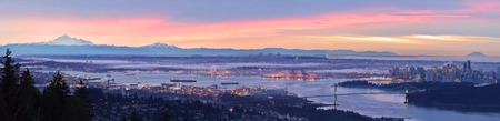mt baker: Vancouver Panoramic Cityscape, viewed from Cypress Mountain lookout