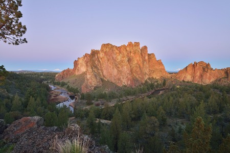 Smith Rock and Crooked River at sunrise, Oregon
