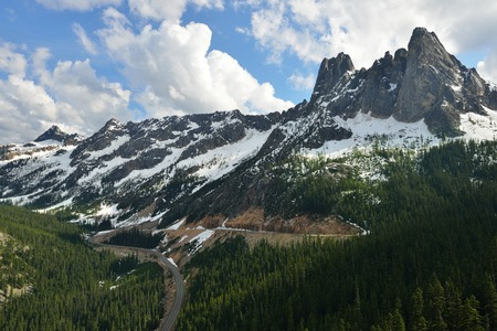 liberty bell: Liberty Bell and the Early Winter Spires, North Cascades Scenic Highway Corridor, Washington