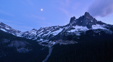 scenic highway: Liberty Bell and the Early Winter Spires, North Cascades Scenic Highway Corridor, Washington