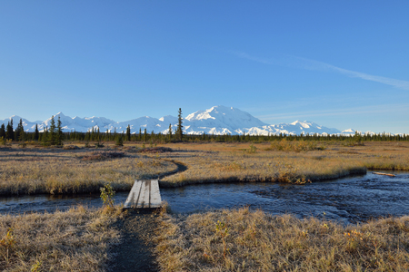 mckinley: McKinley Bar Trail and Denali Mountain, Alaska
