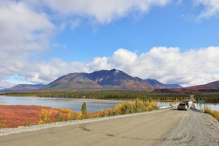 denali: Beautiful Autumn Colors  on Denali Hwy and Susitna River, Alaska