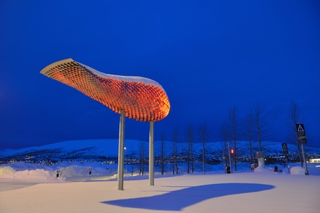 Tromso Airport in Twilight, Northern Norway