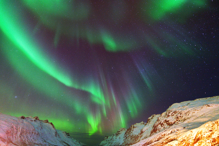 Aurora Borealis Over Ersfjorden, Tromso, Northern Norway Reklamní fotografie