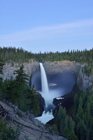 Helmcken Falls, one of the iconic waterfalls In Wells Gray Provincial Park, Clearwater, BC