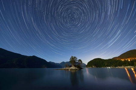 Star Trails, Furry Creek, located on Howe Sound in the Squamish-Lillooet Regional District