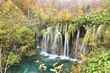 autumn color: Plitvice Lakes Autumn Color and Mist, Croatia