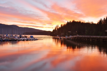 Deep Cove Amazing Sunrise North Vancouver British Columbia Photo