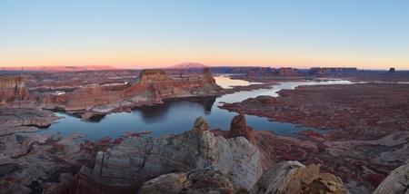 gunsight: Alstrom Point - Glen Canyon National Recreation Area Stock Photo