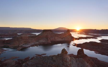 gunsight: Alstrom Point sunrise - Glen Canyon National Recreation Area