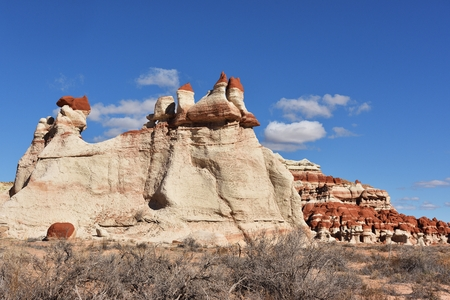 Blue Canyon located in the Native American reservation near Tuba City, Arizona Stock Photo