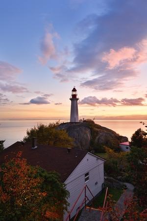 ポイントアトキンソン灯台サンセット, ウエストバンクーバー, ブリティッシュコロンビア州