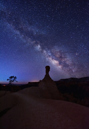 Milky Way over ET Hoodoo on Queen and Peek-A-Boo trails, Utah, United States