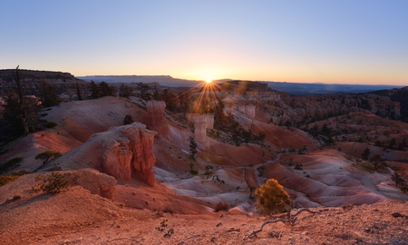 Bryce Canyon sunrise at Queen and Peek-A-Boo trails, Utah Banco de Imagens