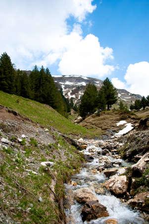 springwater: Springwater in high mountains