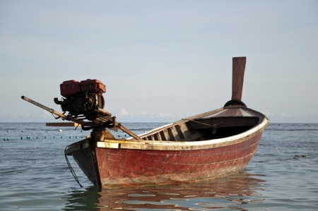One boat on the sea in Southern of Thailand photo