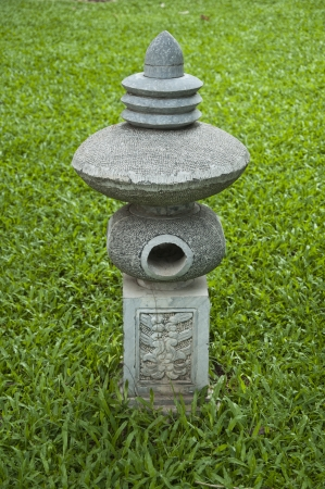 Pillar in the garden,Vietnam photo