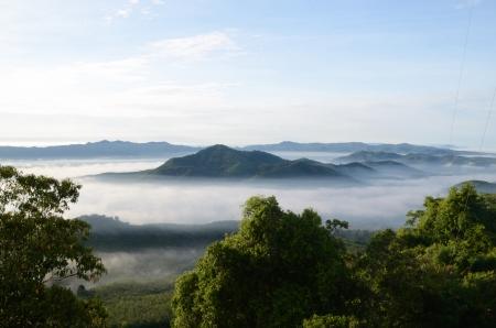 Fog at Khohong Hill,Hatyai,Songkhla Thailand