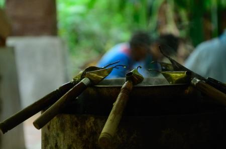 terengganu: batik Tools using melted wax