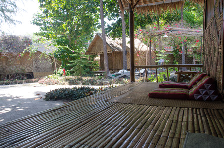 slow life and relax with bamboo cottage, resort at Lipe island,Thailand