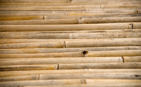 Bamboo wickerwork wall in Asian rural area. Bamboo texture background Stock Photo