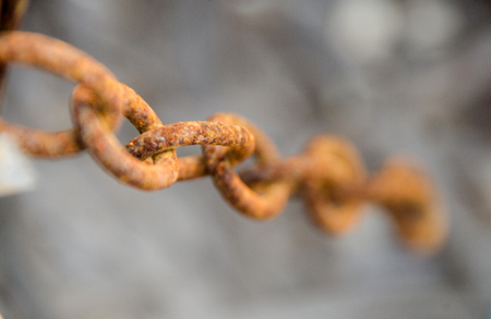 Steel corrosion, Metal rust. shackle rust.