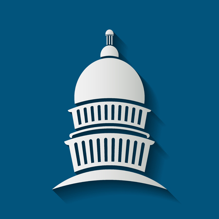 Capitol congress meeting building icon, vector illustrator Иллюстрация