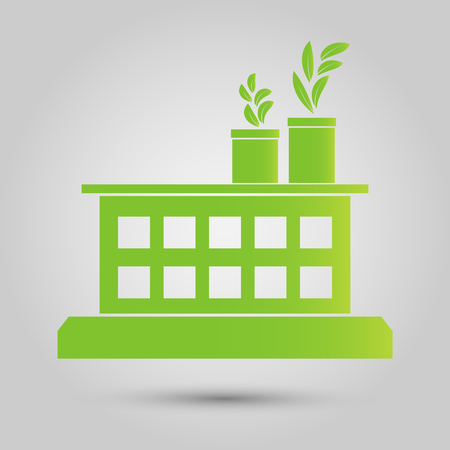 Factory ecology, Industry icon, Clean energy with eco-friendly concept ideas.vector illustration Illustration