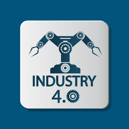 Industry 4.0 icon,Technology concept.vector illustration