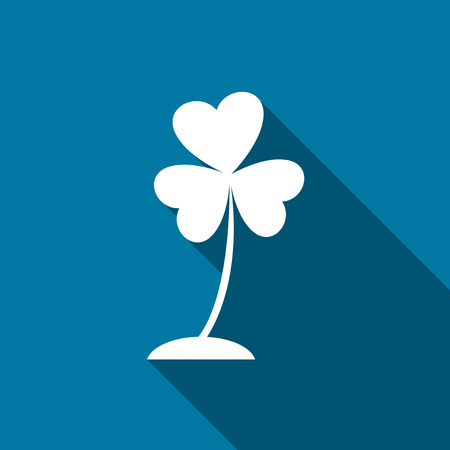 Four Flower tree icon with long shadow black,Simple design style.vector illustration