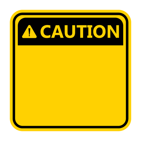 symbol yellow caution sign icon,Exclamation mark ,Warning Dangerous icon on white background Иллюстрация