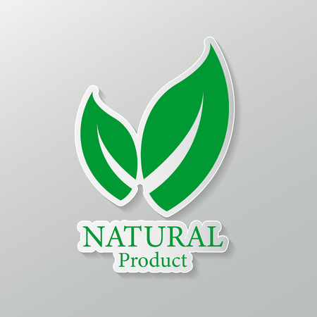 natural vector design.logo natural product