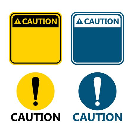 symbol yellow caution sign icon, Exclamation mark, Warning Dangerous icon on white background Иллюстрация