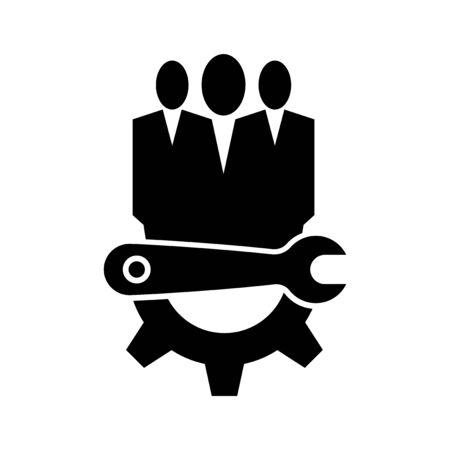 technician Maintenance icon Symbol Sign Isolate on White Background, Vector Illustration Ilustracja